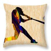 Baseball Game Art Throw Pillow