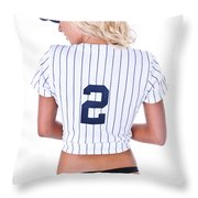 Baseball Girl 2 Throw Pillow