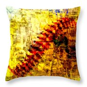 Baseball Impression Throw Pillow