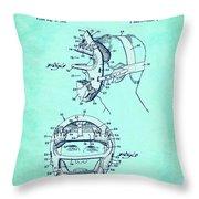 Baseball Mask Patent Blue Us2627602 A Throw Pillow