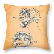Baseball Mask Patent Orange Us2627602 A Throw Pillow