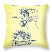 Baseball Mask Patent Yellow Us2627602 A Throw Pillow