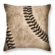 Baseball Old And Worn Throw Pillow by Paul Ward