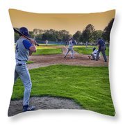 Baseball On Deck Circle Throw Pillow