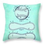 Baseball Patent Blue Us1668969 Throw Pillow