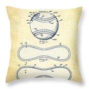 Baseball Patent Vintage Us1668969 Throw Pillow