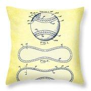 Baseball Patent Yellow Us1668969 Throw Pillow
