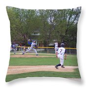Baseball Pitcher The Delivery Throw Pillow