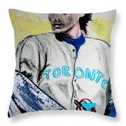 Baseball Player Throw Pillow by First Star Art
