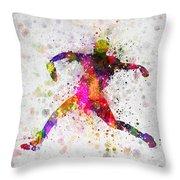 Baseball Player - Pitcher Throw Pillow