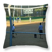 Baseball Practice Throw Pillow