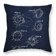 Baseball Training Device Patent Drawing From 1963 Throw Pillow