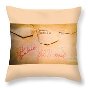Baseball Treasures Throw Pillow