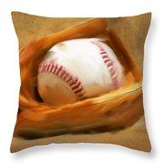 Baseball V Throw Pillow