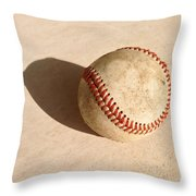 Baseball With Shadow Throw Pillow