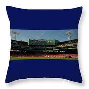 Baseballs Hollowed Ground Throw Pillow