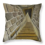 Basement Stairs Throw Pillow