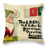 Bashful Letter Throw Pillow