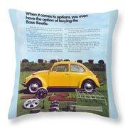 Basic Beetle  Throw Pillow