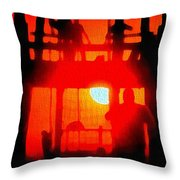 Basic Training Obstacle Course At Sunset Throw Pillow