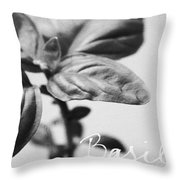 Basil Throw Pillow by Linda Woods