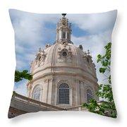 Basilica Da Estrela In Lisbon Throw Pillow