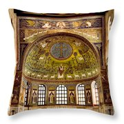 Basilica Di Sant'apollinare Nuovo - Ravenna Italy Throw Pillow by Jon Berghoff
