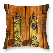 Basilica Door Knobs Throw Pillow