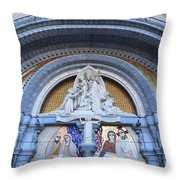 Basilica Of Our Lady Of Lourdes Throw Pillow