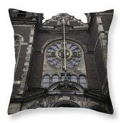 Basilica Of St Nicholas II Amsterdam Throw Pillow