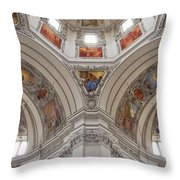 Basilica Of St. Peter In Salzburg Throw Pillow