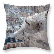 Basilica Of The Sacre Cour Throw Pillow