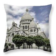 Basilica Of The Sacred Heart Paris France Throw Pillow