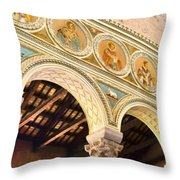 Basilica - Ravenna Italy Throw Pillow by Jon Berghoff