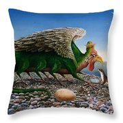 Basilisk, 1986 Oils And Tempera On Paper Throw Pillow