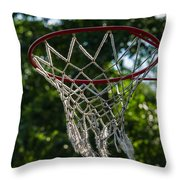 Basket - Featured 3 Throw Pillow