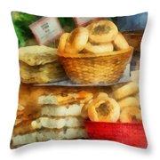 Basket Of Bialys Throw Pillow