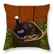 Basket Of Goodies Throw Pillow