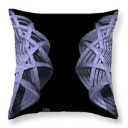 Basket Of Hyperbolae - Stereogram Throw Pillow