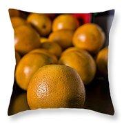 Basket Of Oranges Throw Pillow by Jeff Burton