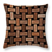 Basket Weaving Throw Pillow
