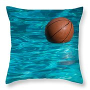 Basketball In The Pool  Throw Pillow