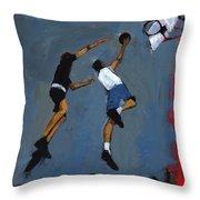 Basketball Players Throw Pillow