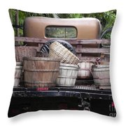Baskets Of Feed Throw Pillow