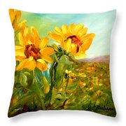 Basking In The Sun Throw Pillow by Barbara Pirkle