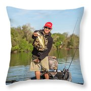 Bass Caught In Austin Texas Throw Pillow