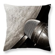 Bass Drum And Mic Throw Pillow