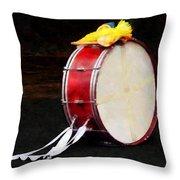 Bass Drum At Parade Throw Pillow