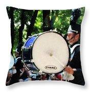 Bass Drums On Parade Throw Pillow