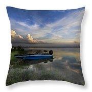 Bass Fishin' Blues Throw Pillow by Debra and Dave Vanderlaan